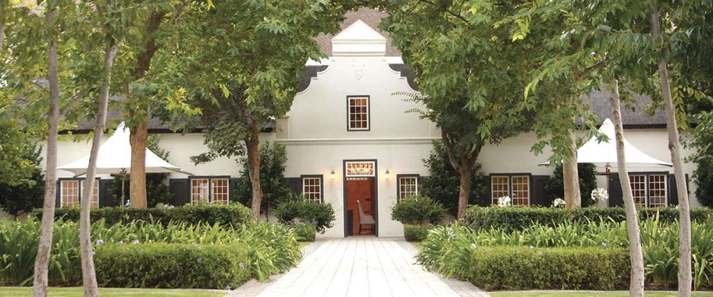 symmetrical garden design at Grand Provence wine Estate Franschhoek