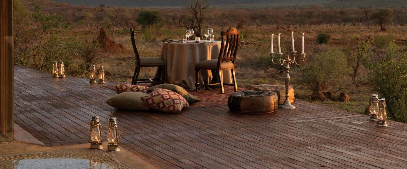 private dinner for two on malaria free safari at Madikwe Hills Lodge
