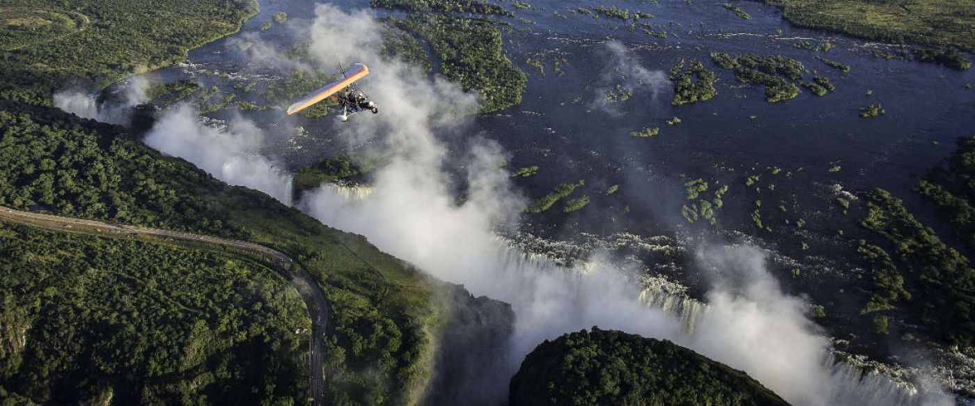 Out in Africa Batoka Sky microlight over Victoria Falls